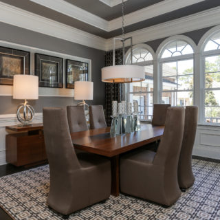 Laurel Valley Dining Room by Teal Interior Design
